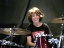 Jaron Natoly at the drums