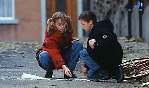 Mathias Coppens (as Ludovic), and Bella van Meel ( as Sophie) in The world of Ludovich 1993