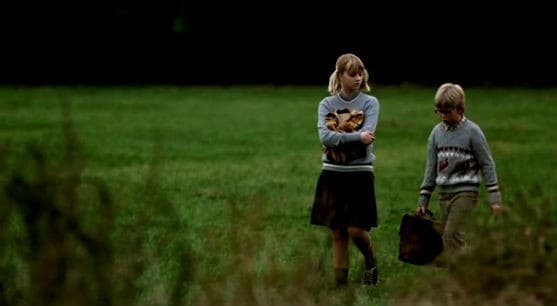 Jannik Lorenzen and Julie Kolbech as Allan and Sanne in Peter Fog`s film The Art of Crying