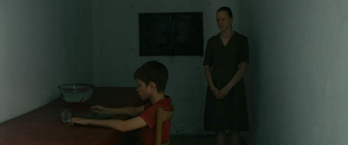 """Nicolas (Max Brebant) and his """"mother"""" (Julie-Marie Parmentier)"""