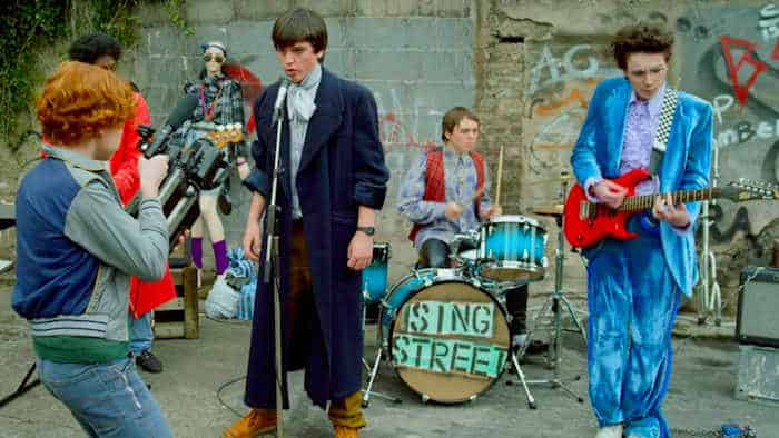 Sing Street Recording their first music video