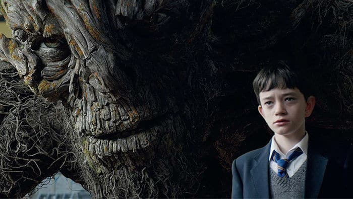 Conor (Lewis MacDougall) and the monster