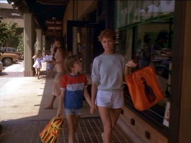 Tim (Wil Wheaton) and his mother Emily (Susan Sarandon) in The Buddy System (1984). The 80`s spirit can felt in many of the film`s scenes