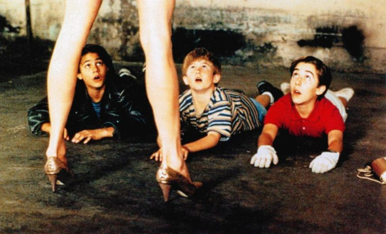 MILK MONEY, Melanie Griffith (front), back, from left: Adam LaVorgna, Michael Patrick Carter, Brian Christopher, 1994. ©Paramount Pictures