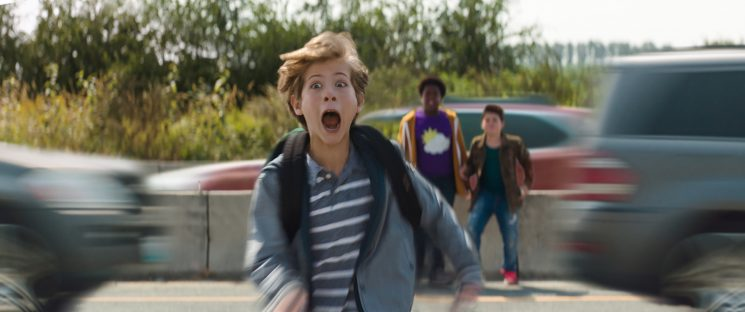 """Max (foreground, Jacob Tremblay), Thor (Brady Noon) and Lucas (Keith L. Williams) in """"Good Boys,"""" written by Lee Eisenberg and Gene Stupnitsky and directed by Stupnitsky."""
