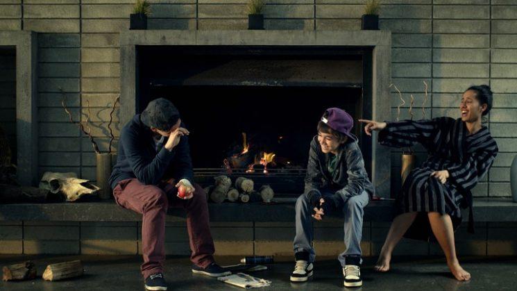 Kenae (Calae Hignett-Morgan), Tibs (Hanelle Harris) and Jesse (Jesse James Rehu Pickery)