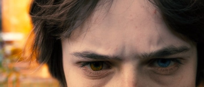 Young hero's multi-colored eyes